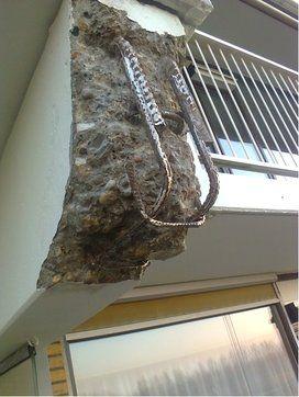Verdieping bij contentblok betonschade Balkon - Betonreparatie AFB BALKON en CONSOLE - projecten - Schade console