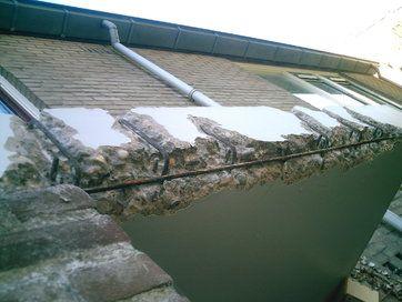 Verdieping bij contentblok betonschade - betonrenovatie verschillende projecten - foto projecten - Schade afdak
