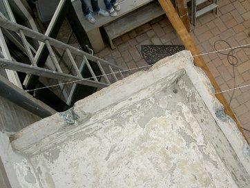 Verdieping bij contentblok betonschade Balkon - Betonreparatie AFB BALKON en CONSOLE - projecten - Tijdens reparatie