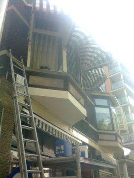 Verdieping bij contentblok betonschade Balkon - Betonreparatie AFB BALKON en CONSOLE - projecten - Na reparatie